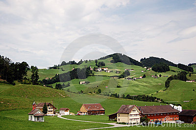 Classic Switzerland countryside