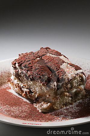 Classic, traditional tiramisu fresh cake