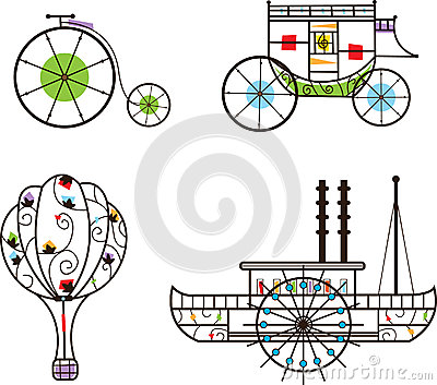 Classic Transportation Icons