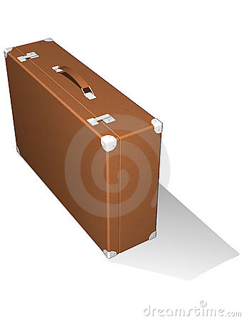 Classic travel suitcase