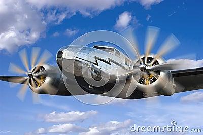 Classic Vintage Airplane Flight, Flying Aviation