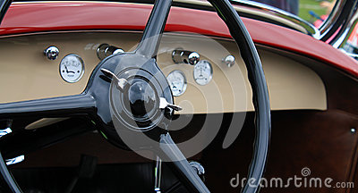 classic vintage american car interior royalty free stock image image 30287386. Black Bedroom Furniture Sets. Home Design Ideas