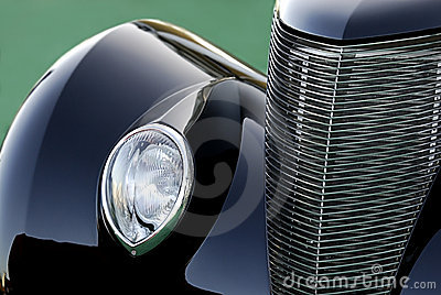 Classic Vintage Car in Black: Abstract
