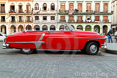 Classic vintage car in Havana Editorial Stock Image
