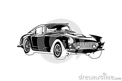 Classic vintage retro car , design Stock Photo