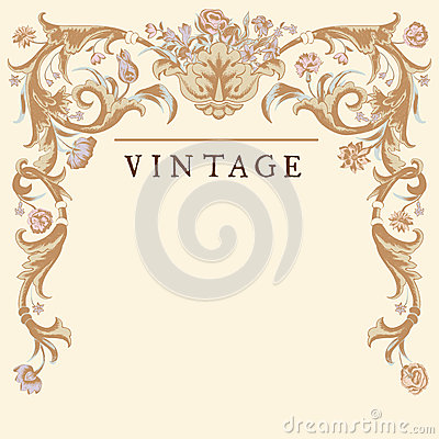 Free Classic Vintage Vector Frame Baroque. Stock Image - 38202601