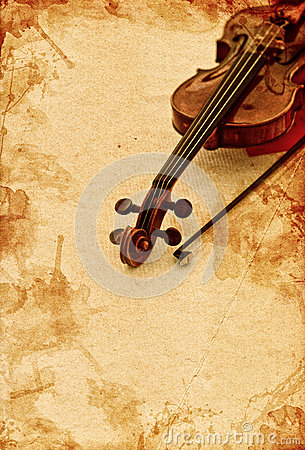 Free Classic Violin On Grunge Paper Background Stock Images - 34302514