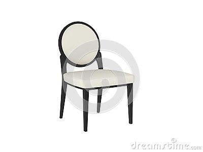 Classic white and black chair