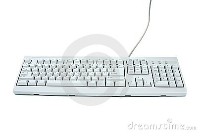 Classic white PC keyboard