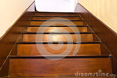Classic wood stair