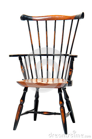 Classic Wood Windsor Armchair Miniature Sample
