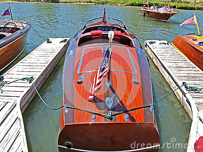 Classic Wooden Chris Craft Editorial Stock Image