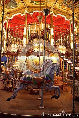 Classic wooden merry-go-round
