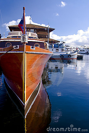 Free Classic Yacht At The Marina Stock Photography - 2707082