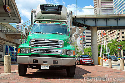 Classical american big modern truck Editorial Stock Image