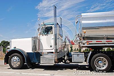 Classical american big vintage petrol truck