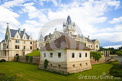 Classical architecture castle