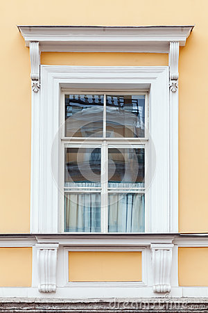 Free Classical Architecture Details, Yellow Wall And Window Royalty Free Stock Images - 70060799