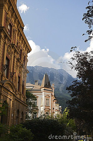 Classical architecture in Innsbruck Editorial Stock Photo