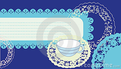 Classical background with cup