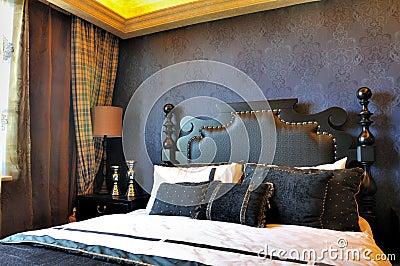 Classical bedroom in deep color