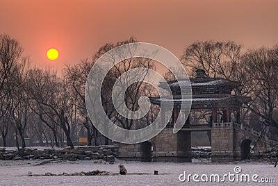 Classical bridge In SunSet