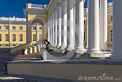 Classical building with white columns