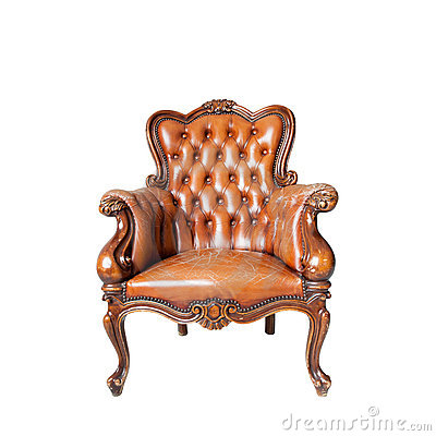 Classical carved wooden chair