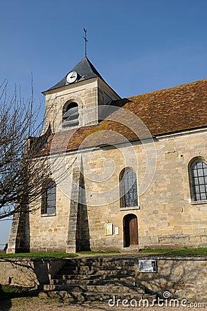 The classical church of Sagy in V al d Oise
