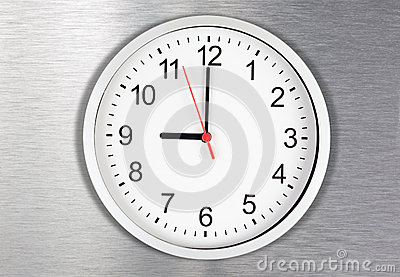 Classical clock on metal background