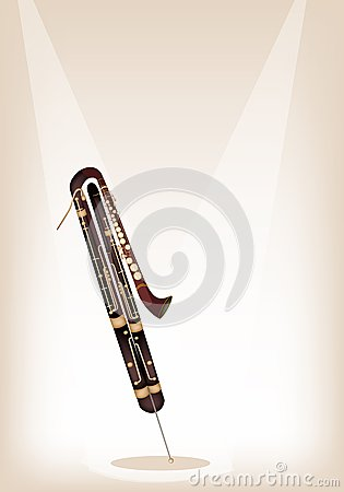 A Classical Contrabassoon on Brown Stage Backgroun