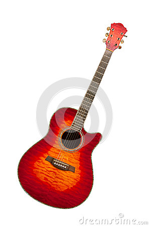 Classical curly maple acoustic guitar