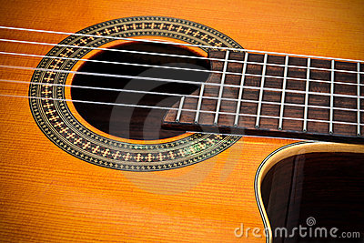 classical cutaway guitar royalty free stock photography. Black Bedroom Furniture Sets. Home Design Ideas