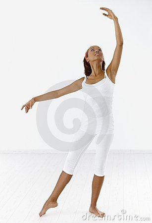 Classical dancer in posture