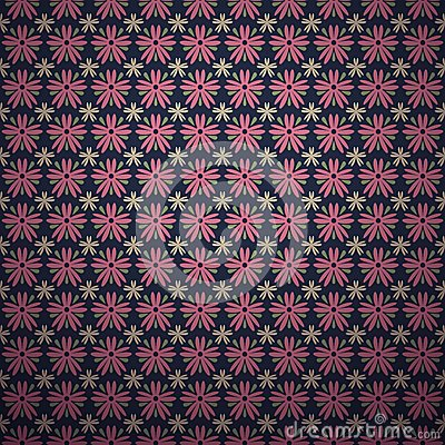 Classical dark pink ditsy floral seamless