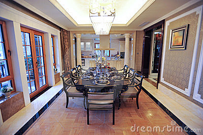 Classical dining room in a mansion