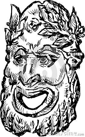 Classical drama mask