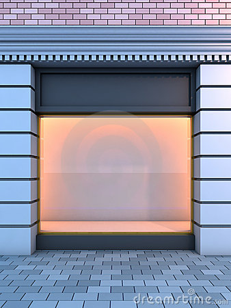 Free Classical Empty Storefront . Stock Image - 17137731