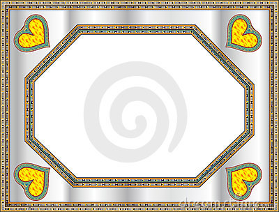 Classical frame with heart shape