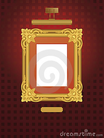 Classical frame with lamp.