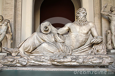 Sculpture of Neptun in Vatican museum
