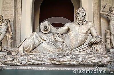 Sculpture of Neptun in Vatican museum