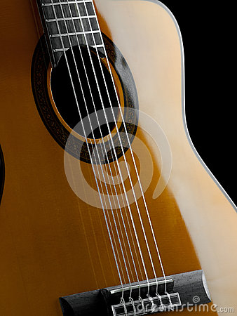 Classical guitar closeup