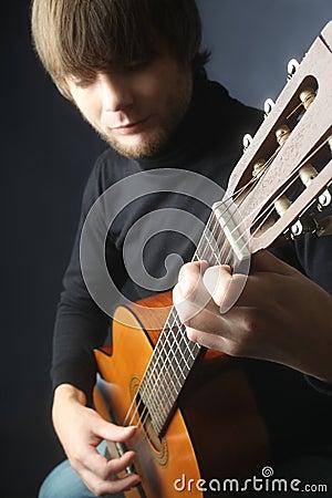 classical guitar player details royalty free stock image image 34805706. Black Bedroom Furniture Sets. Home Design Ideas