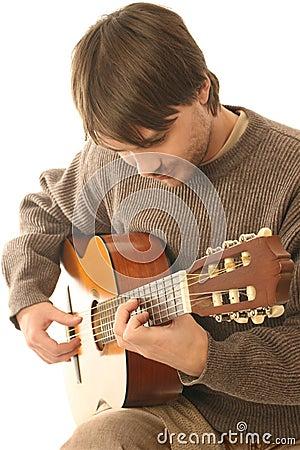Classical guitarist guitar