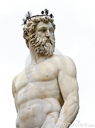Classical marble sculpture of Neptune