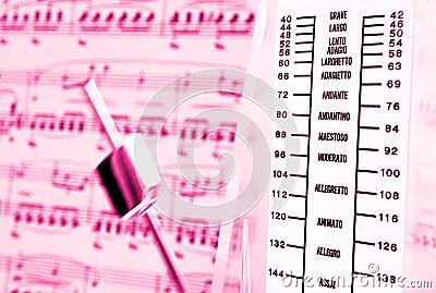 Classical music, metronome