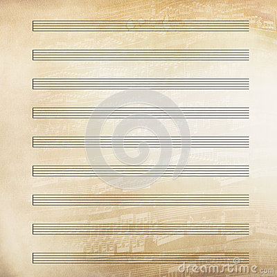 Classical music sheet paper