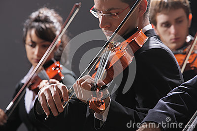 Classical music. Violinists in concert