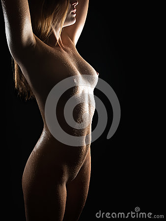Classical nude of a sexy blond woman